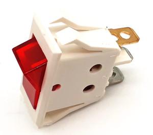 10 pcs of AC110V 220V Red lighted 6.3mm power switch