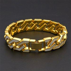 2021 Chain Bracelet For Mens Tops Quality Pop Club Accessories Ice Out Hip Hop Bracelets Gold Plating Bangle Zircon Chains women 22.5cm