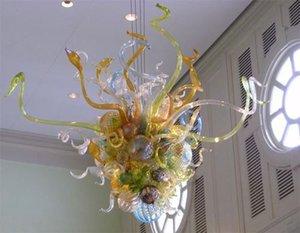 Precio barato Cocina Habitación Comedor Iluminación Chandelier 100% hecho a mano Lámpara de techo de cristal soplado LED Lámparas pendientes