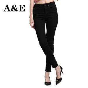 Alice Elmer Skinny Jeans Donna Jeans Per Le Ragazze Delle Donne A Vita Alta Stretch Pantaloni Femminili Accorciato Nero
