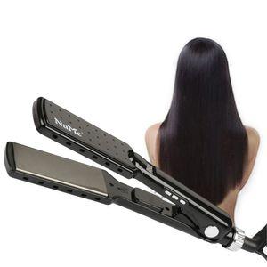 Fast 2 in 1 Hair Straightener Iron MCH Heating Anti Static Fast Straightening Flat Iron fr Straight hair Curly hair