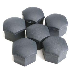 40pcs 17mm Negro de silicona protector Hex estirón de la rueda del casquillo de válvula del perno tuerca del vástago Cubierta 17mm