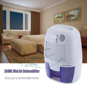 Déshumidificateur d'air portable Capacité 500ML ABS Matériau Absorbeur d'humidité auto-off Sécheur d'air électrique pour la maison Chambre Cuisine TB