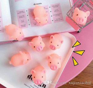 5cm Cartoon mignon de porc doux cri rose pincée Animal guérison Vent Jouet Mochi de balle anti-stress Décor Décompression Jouets enfants cadeau