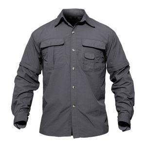 Erkekler Gömlek Yaz Çabuk Kuruyan Kollu Ayrılabilir Gömlek Askeri Ordu Taktik Gömlek Nefes Egzersiz Smmd Broadcloth Giymek
