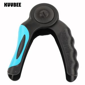 Fitness Kuubee Pinzas de mano de doble pantalla LCD Deportes Fitness Ejercitador de dedos Dinamómetro Fuerza de agarre Fuerza ajustable Calorías Agarre de mano