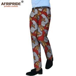 2018 nouveau style africain pantalon décontracté pour le tailleur masculin font des pantalons de coton mi-hommes fermeture à glissière pleine longueur de taille A1811002