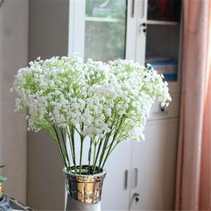 Artifico Babysbreath Wedding Decorative Plastic Gypsophila Pequeñas Flores Ramo de novia Flor Gota Envío a607