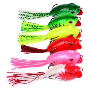 6pcs  Lot Soft Baits Frog Lure With Hooks Soft Fishing Bait 6colors Fishing Lures 16 .16g -0 .57oz 9 .5cm -3 .75 &Quot ;Fishing Baits