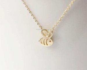 Pequeno mel abelha pulseiras minúsculas abelhas favos de mel bumblebee pingente pulseiras insetos voadores animais aves clavícula sorte presente jóias