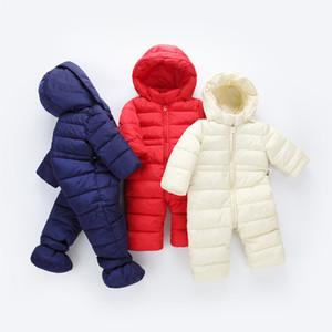 2020 printemps hiver Jumpsuit bébé nouveau-né Habineige Porter neige Manteaux garçon chaud Romper 100% duvet de coton fille vêtements Bodysuit