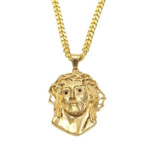 Uwin الدين يسوع قطعة الوجه قلادة أعلى جودة الفولاذ المقاوم للصدأ لون الذهب قلادة مصر المجوهرات المصرية للرجال والنساء
