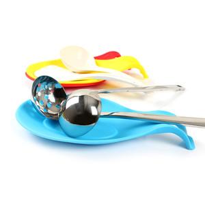 Nueva Silicona Cuchara Aislamiento Estera de Silicona Mantel Protector a prueba de Calor Vidrio Coaster Bandeja Cuchara Accesorios de Cocina Envío gratis