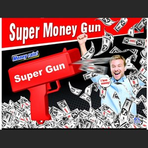 Torná-lo chuva arma dinheiro vermelho canhão de dinheiro super arma brinquedos 100pcs contas jogo de festa de diversão ao ar livre moda presente pistola brinquedos