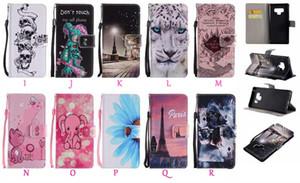 Portafoglio in pelle per Iphone 11 Pro Max XR XS MAX 8 7 6 Leopard Parigi Do not Touch My Phone Farfalla Fiore Skull Cartoon copertura del basamento