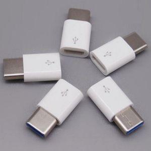 C Tipi USB C 3.1 C Tipi Adaptör Veri İletim Şarj Adaptörü Siyah Beyaz Renk Araç için Android Mikro USB