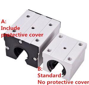 1pc cnc routeur machine bloc coulissant standard SBR16UU SBR20UU SBR25UU SBR30UU linéaire bloc roulement à billes comprend couvercle de protection