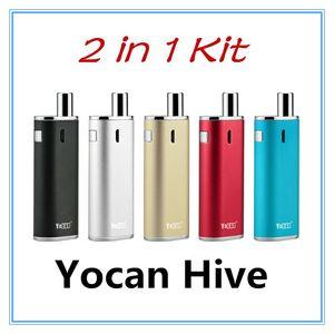 Vape Mods para cera Yocan Hive Kit Vaporizador de aceite 2 tipos Atomizador Cera Atomizador 650Mah 12W 4.2V Para aceite de cera Kits de cigarrillo electrónico Kits de inicio