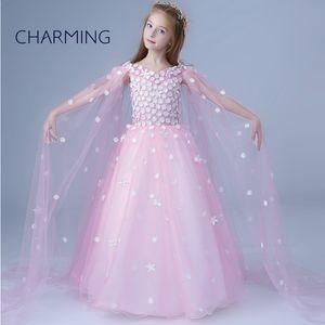 Тюль Платья для выпускного вечера Подходит для девушки свадебное платье принцессы платье производительности показать стиль юбка V шеи Красивые платья для девочек Teal д