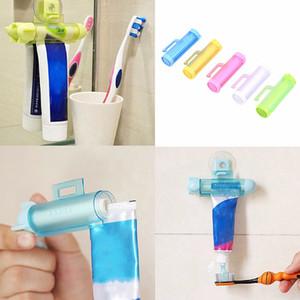 Tubo De Espremedor De Rolamento De Plástico Titular Parceiro com Suspensão Otário Dispensador de Dentífrico Dispensadores de Acessórios Do Banheiro