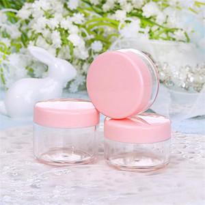 Alta calidad 10g / 15g / 20g botellas rellenables de plástico vacía de maquillaje tarro pote del recorrido Crema Loción envase cosmético B0241