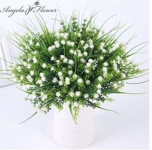 новый яркий P. tenuiflora зеленая трава растения искусственный цветок babysbreath моделирование цветок свадебные украшения для дома партии офис