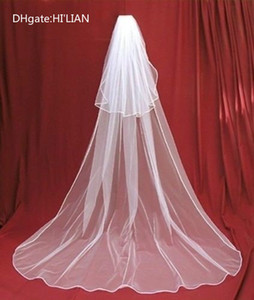 Фата в Невесте вуали очаровательная слоновая кость / белый 2 яруса собор свадебная фата с гребнем на заказ 3 метра свадебный головной убор новый стиль моды