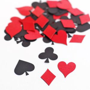 C13 Poker Confetti - Scheda di gioco Suit - Cuori Diamanti club Picche Game Night Alice nel paese delle meraviglie decorazione del partito