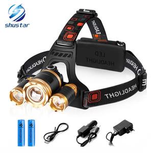 Shustar 3шт Т6 LED фара передняя 10000 люмен светодиодный налобный фонарь аварийного освещения открытый лагерь поход рыбалка оборудование