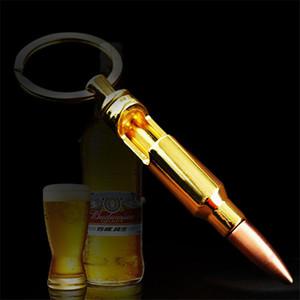 2019 Bouteille Bullet Creative Ouvre porte-clés en métal en forme de bière ouvre Grande idée de cadeau pour Fan militaire