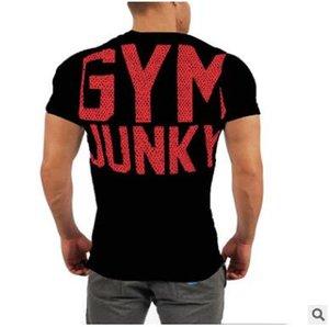 Nouveau Marque Hommes GYMNASE Courir T-shirts de haute qualité de compression à manches courtes Homme culturisme Vêtements de formation Collants Chemise sport de jogging