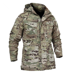 M65 UK US Army Tactical Jacket Casual Windbreaker Uomo Autunno Inverno Impermeabile Volo Pilot Coat Hoodie Field Jacket