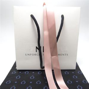 Paket Karton Papier-Tasche 10 Arten für Pandora Ring-Ohrringe Charme-Korn baumeln Art und Weise Schmuck Mehrwert für Ihr Produkt