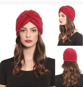 Унисекс Индия Cap женщины тюрбан головной убор шляпа Skullies шапочки мужчины бандана уши протектор аксессуары для волос 30 шт.