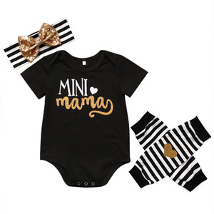 Hot sale newborn infant kids baby girl 1pcs romper +2pcs leg warmer+1pcs headband clothes 4pcs set outfits suit