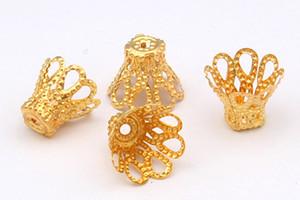 1000 teile / los 6x6mm 4 farben Silber / gold Überzogene Blume CUP Caps Spacer Für Perlen enden erkenntnisse