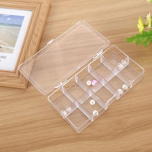 10 Grids Clear Acrylic Empty Storage Box Beads Jewelry Decoration Nail Art Display Container Case ZA5624