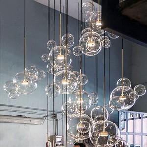 lampes suspendues verre minimaliste moléculaire lustre nordique designer italien créatif verre créatif restaurant verre suspendu lampes