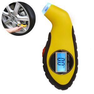 Диагностические инструменты шин манометр метр манометр барометры тестер цифровой ЖК воздуха шин для авто автомобиль мотоцикл колеса новый