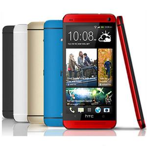 100% Orijinal Unlocked HTC ONE M7 Android Smartphone 16 GB / 32 GB ROM 4.7 inç GPS 3G Çift kamera 8MP WIFI Dört Çekirdekli Yenilenmiş Mobilephone