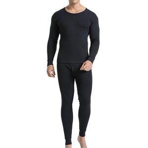 2 pezzi Set di biancheria intima termica da uomo a maniche lunghe, pantaloni, fondo superiore, tenere in caldo le ghette della maglietta set