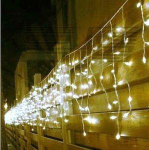 8M x 0.5M 192 rideau de glaçon led guirlande lumineuse nouvel an guirlande de noce conduit pour la décoration de noël en plein air