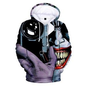 Joker Devil Clown 3D 프린트 후드 티즈 남성용 후드 티 스웨터 하라주쿠 캐주얼 풀오버