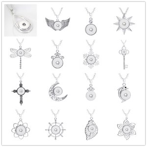 Mode 16 Arten Noosa Cross Moon Charme 18mm Druckknopf Halskette für Frauen Ingwer Snaps Button Schmuck