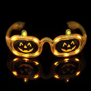 هالوين اليقطين شريط فلاش led نظارات حزب نظارات الأصفر متوهجة الكلاسيكية الصمام الزجاج لعب للرقص dj حزب قناع