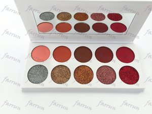 no logo 10 colors eyeshadow palette 5 glitter 5 matte mix white color paper pack welcome print your logo