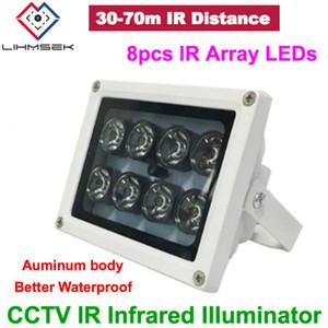 8 pcs IR LEDs 30 45 60 90 Graus Matriz IR iluminador lâmpada infravermelha IR Luz Ao Ar Livre À Prova D 'Água luz de preenchimento de cctv para CCTV câmera