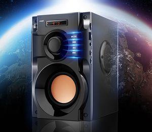 A100 Grande Potência Bluetooth Speaker Subwoofer Estéreo Sem Fio Baixo Pesado Alto-falantes de Música Player de Suporte Display LCD Rádio FM LLFA