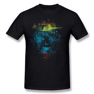Özel Adam% 100% Pamuklu skully T Shirt Adam O-Boyun Mor Şort T-Shirt S-6XL Normal T Shirt