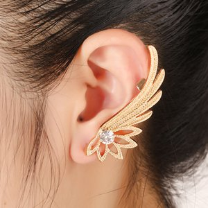 ZLDYOU Fashion Crystal Ear Cuff Piercing Jewelry For Women Gift Wing Rhinestones Gold Silver Plated Earcuffs Clip Earring